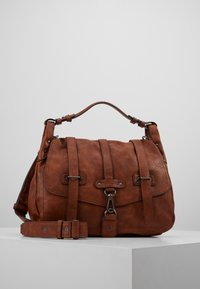 Tamaris - BERNADETTE SATCHEL BAG - Handbag - cognac - 0