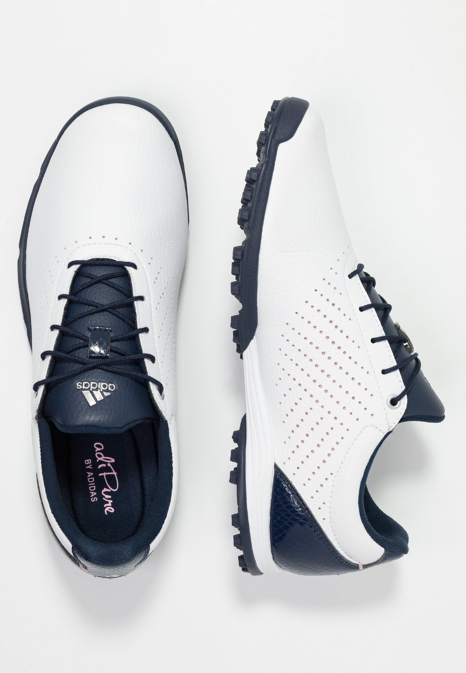 adidas Golf ADIPURE SC - Golfskor - footwear white/collegiate navy/true pink