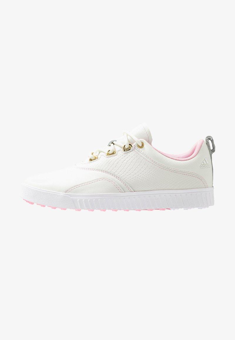 adidas Golf - ADICROSS PPF - Golfové boty - white tint/true pink/gold metallic