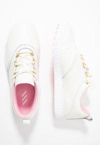 adidas Golf - ADICROSS PPF - Golfové boty - white tint/true pink/gold metallic - 1