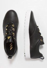 adidas Golf - ADICROSS PPF - Golf shoes - core black/gold metallic/footwear white - 1