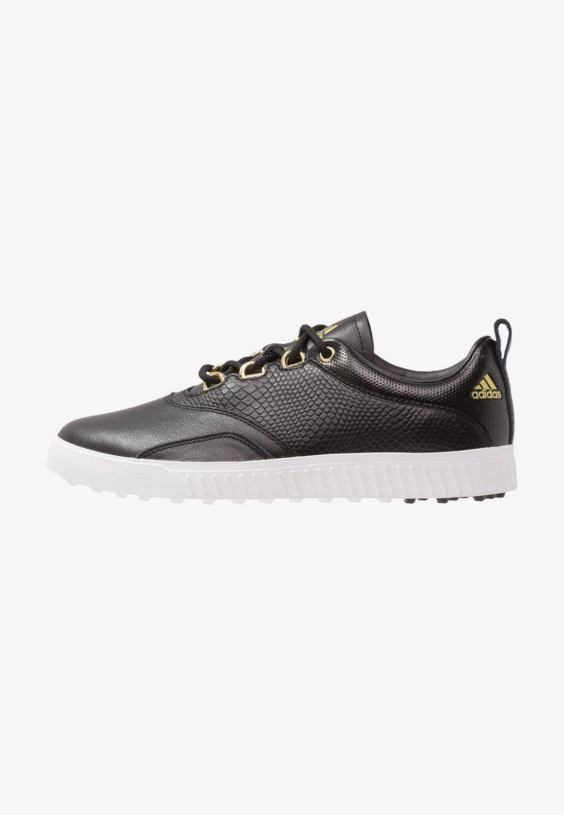 adidas Golf - ADICROSS PPF - Golf shoes - core black/gold metallic/footwear white