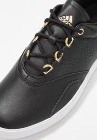adidas Golf - ADICROSS PPF - Golf shoes - core black/gold metallic/footwear white - 5