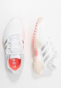adidas Golf - CODECHAOS - Golf shoes - footwear white/silver metallic/signal coral - 1