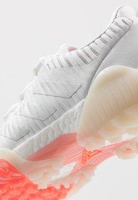 adidas Golf - CODECHAOS - Golf shoes - footwear white/silver metallic/signal coral - 5