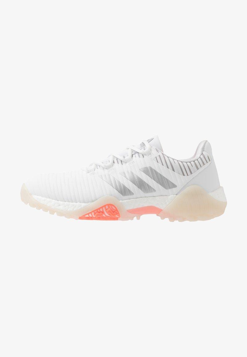 adidas Golf - CODECHAOS - Golf shoes - footwear white/silver metallic/signal coral