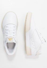 adidas Golf - ADICROSS RETRO - Golfové boty - footwear white/gold metallic/crystal white - 1