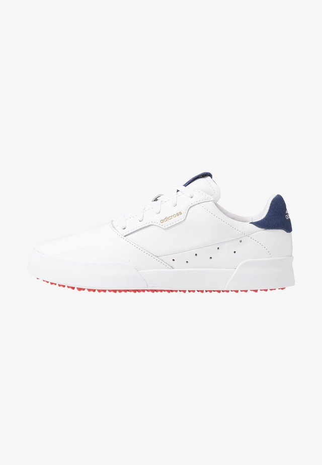 ADICROSS RETRO - Golfskor - footwear white/silver metallic/tech indigo