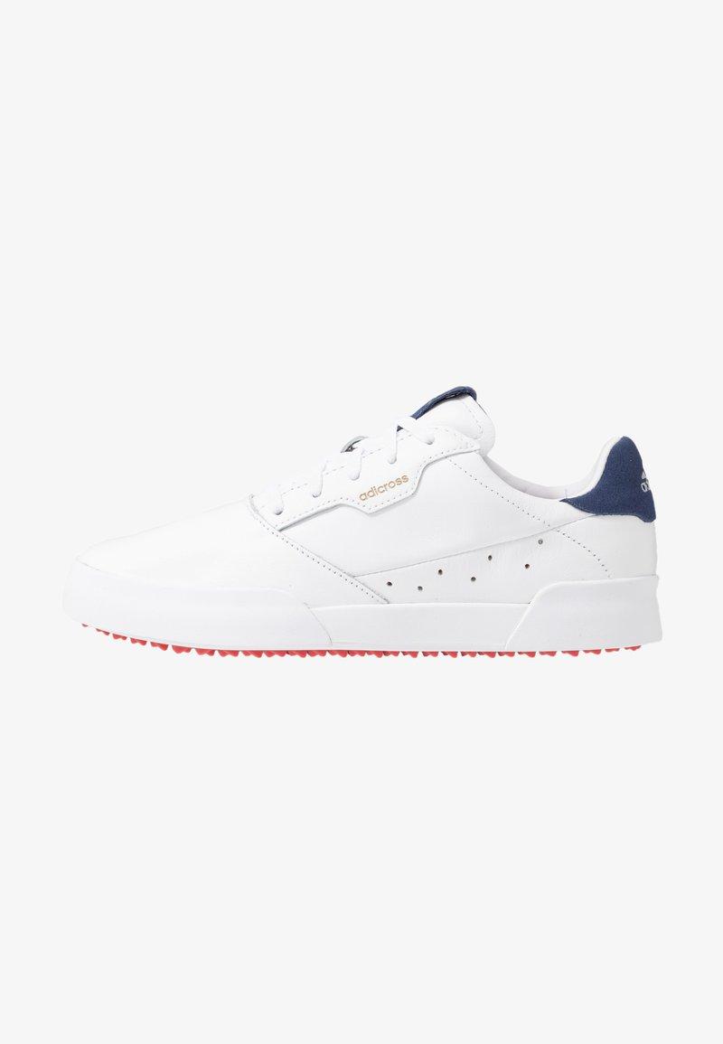 adidas Golf - ADICROSS RETRO - Golfsko - footwear white/silver metallic/tech indigo