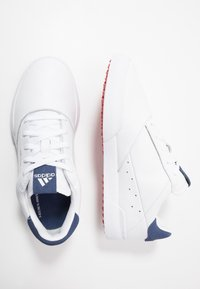 adidas Golf - ADICROSS RETRO - Golfsko - footwear white/silver metallic/tech indigo - 1
