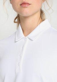 adidas Golf - ESSENTIALS HEATHER LONG SLEEVE POLO - Maglietta a manica lunga - white - 3