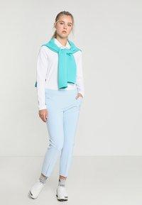 adidas Golf - ESSENTIALS HEATHER LONG SLEEVE POLO - Maglietta a manica lunga - white - 1
