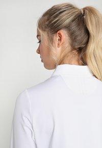 adidas Golf - ESSENTIALS HEATHER LONG SLEEVE POLO - Maglietta a manica lunga - white - 4