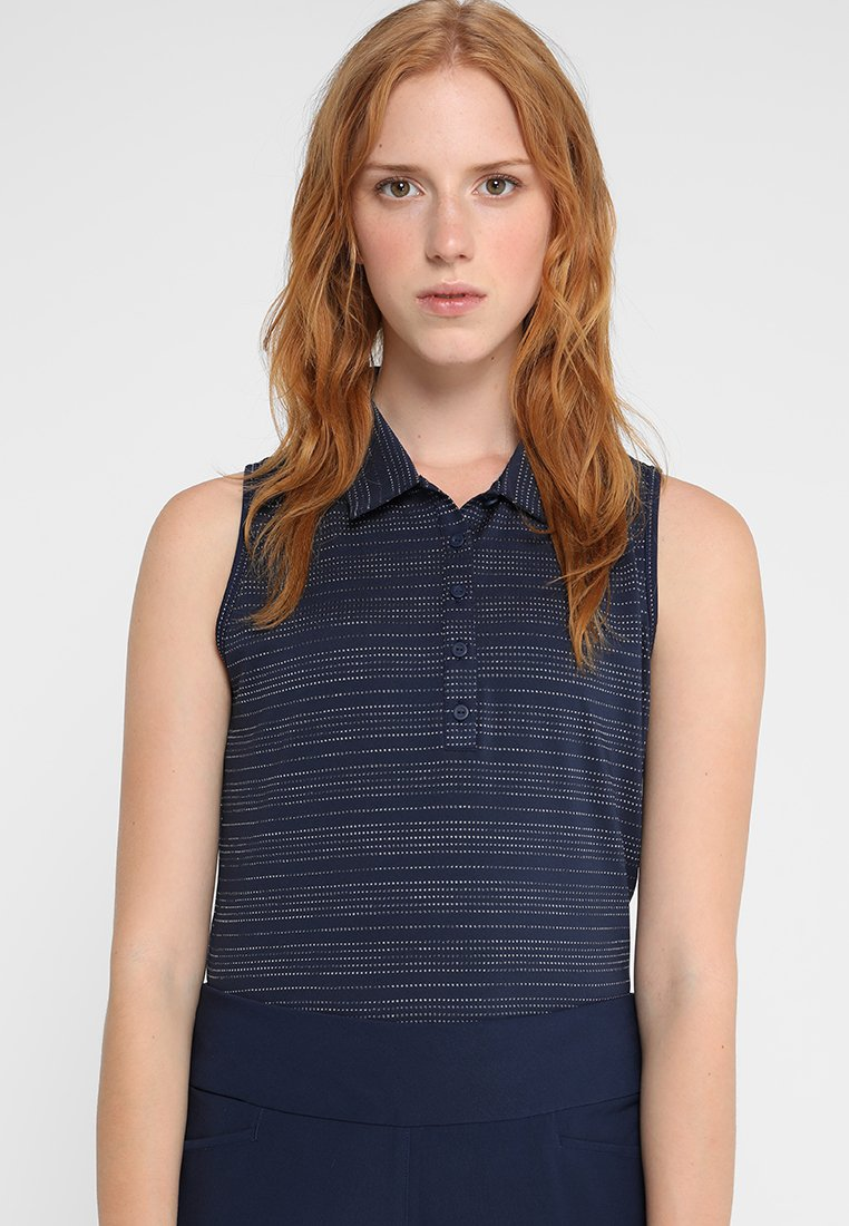 adidas Golf - MICRODOT SLEEVELESS - Poloshirt - night indigo