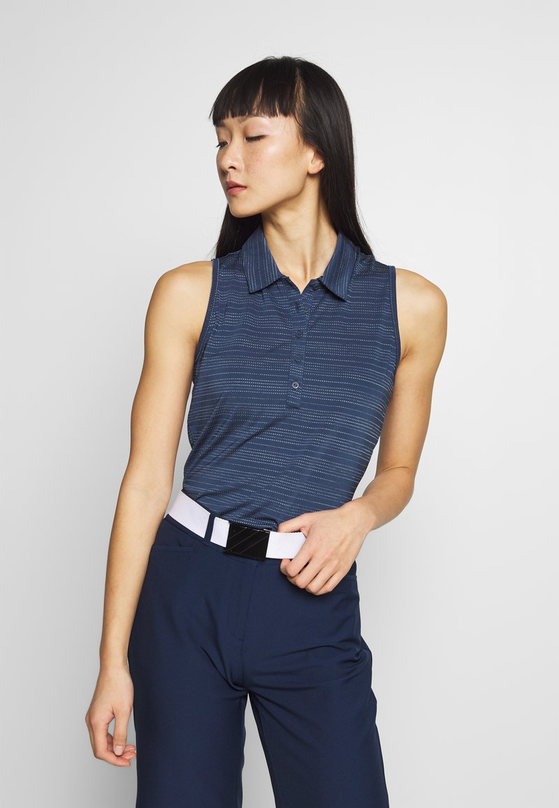 adidas Golf - MICRODOT SLEEVELESS - Polo shirt - tech indigo/indigo