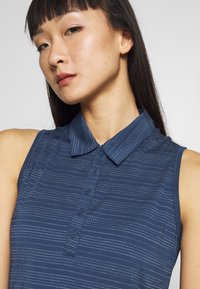 adidas Golf - MICRODOT SLEEVELESS - Polo shirt - tech indigo/indigo - 3