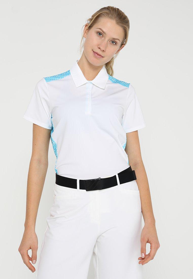 adidas Golf - ULTIMATE365 NOVELTY  - Polo - white/bright cyan