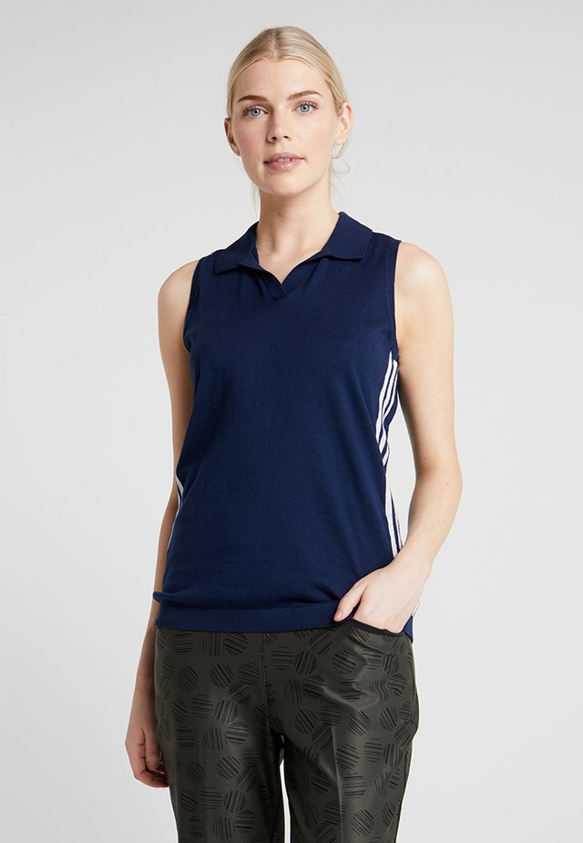 SLEEVELESS - Strikpullover /Striktrøjer - night indigo