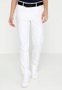 adidas Golf - ULTIMATE CLUB FULL LENGTH PANTS - Spodnie materiałowe - white - 0