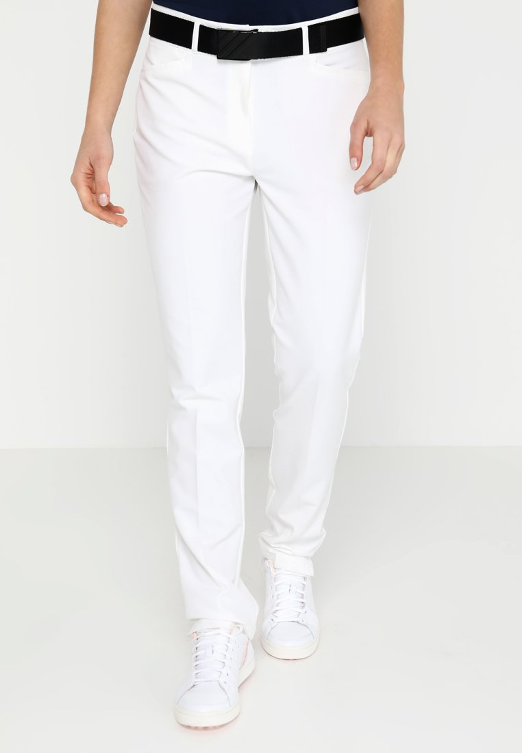 adidas Golf - ULTIMATE CLUB FULL LENGTH PANTS - Spodnie materiałowe - white