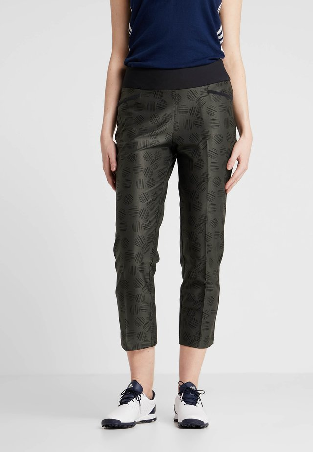 PRINTED PULLON ANKLE PANT - Bukser - black