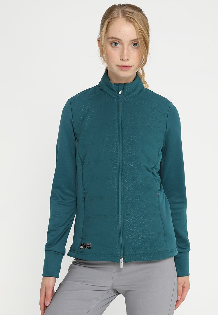 adidas Golf - FULL ZIP JACKET - Outdoorjas - mystery green