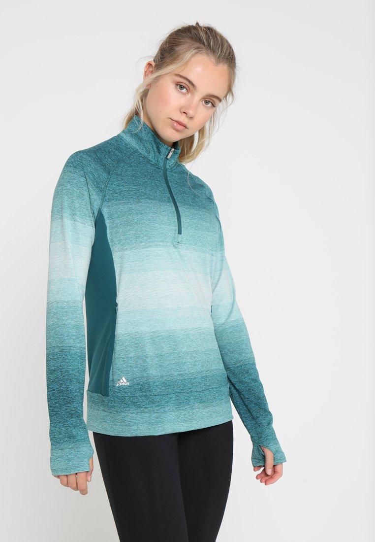 adidas Golf - RANGE WEAR HALF ZIP - T-shirt à manches longues - mystery green