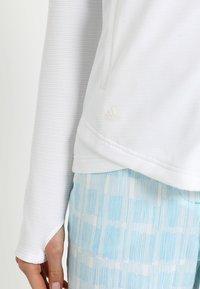 adidas Golf - ESSENTIALS  - Bluza rozpinana - white - 5