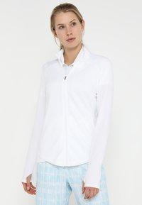 adidas Golf - ESSENTIALS  - Bluza rozpinana - white - 0