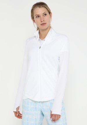 ESSENTIALS  - Zip-up hoodie - white