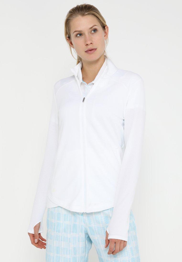 adidas Golf - ESSENTIALS  - Bluza rozpinana - white