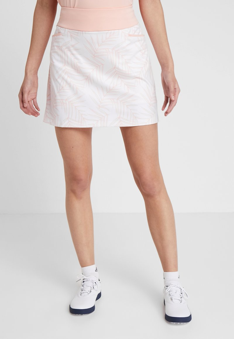 adidas Golf - ULTIMATE PRINTED SKORT - Gonna sportivo - glow pink