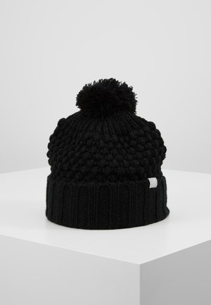 LINED POM BEANIE - Bonnet - black