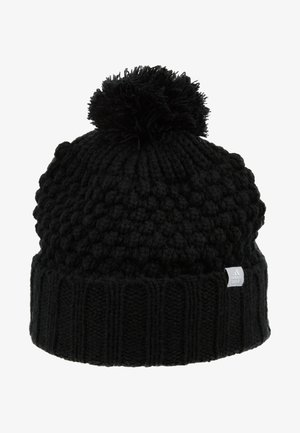 LINED POM BEANIE - Berretto - black