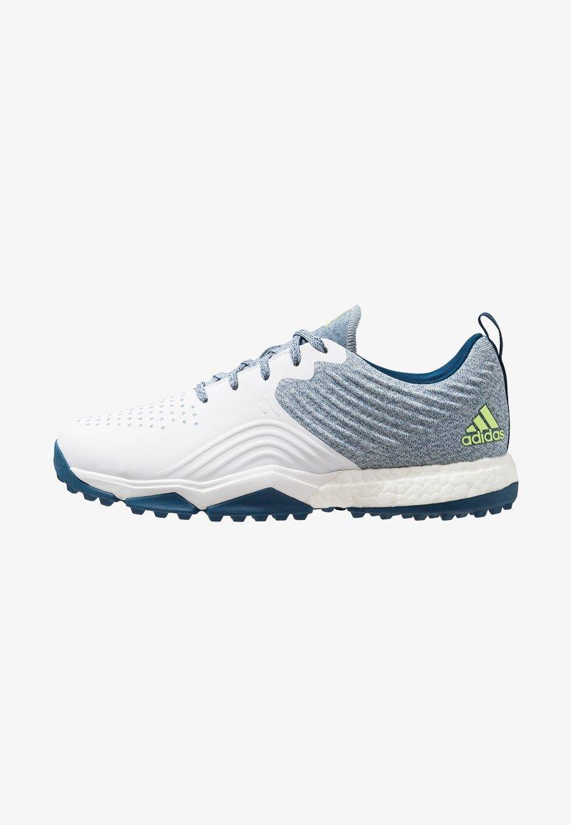 adidas Golf - ADIPOWER 4ORGED S - Golfsko - legend marine/footwear white/hi-res yellow
