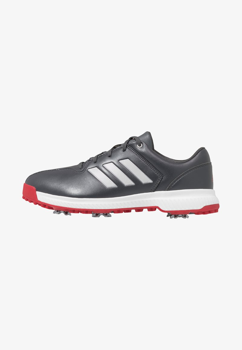 adidas Golf - CP TRAXION - Golf shoes - grey six/silver metallic/scarlet