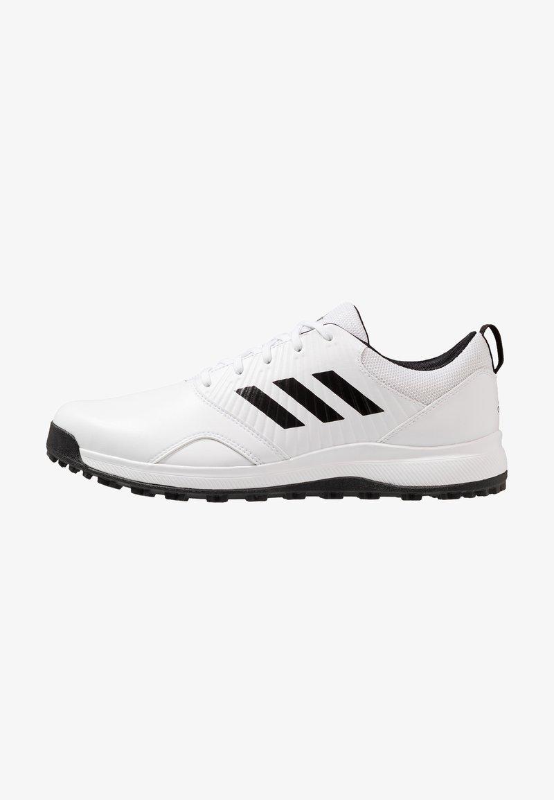 adidas Golf - TRAXION - Golfschuh - footwear white/core black/grey six