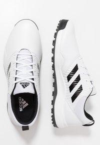 adidas Golf - TRAXION - Golfové boty - footwear white/core black/grey six - 1