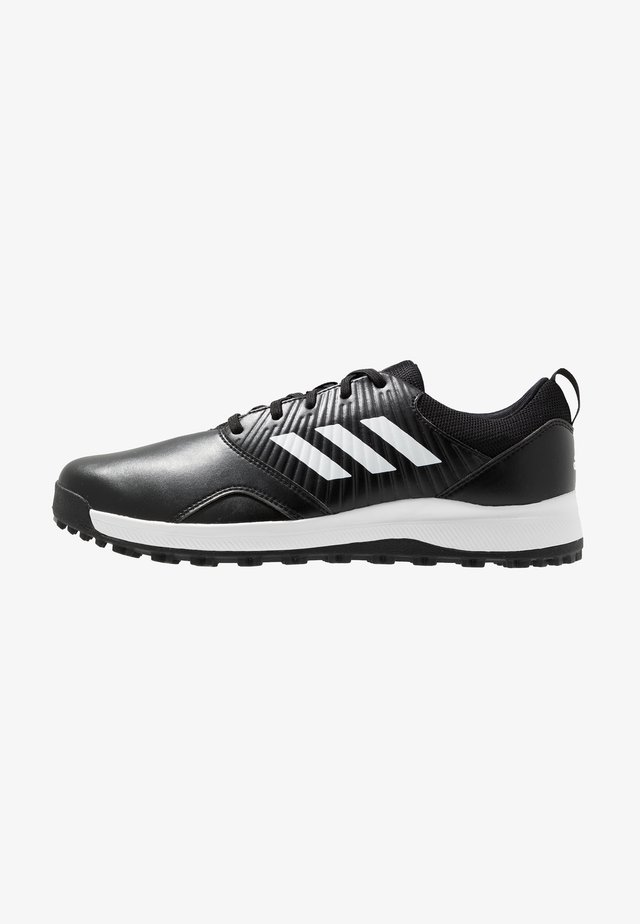 TRAXION - Golfsko - core black/footwear white/silver metallic