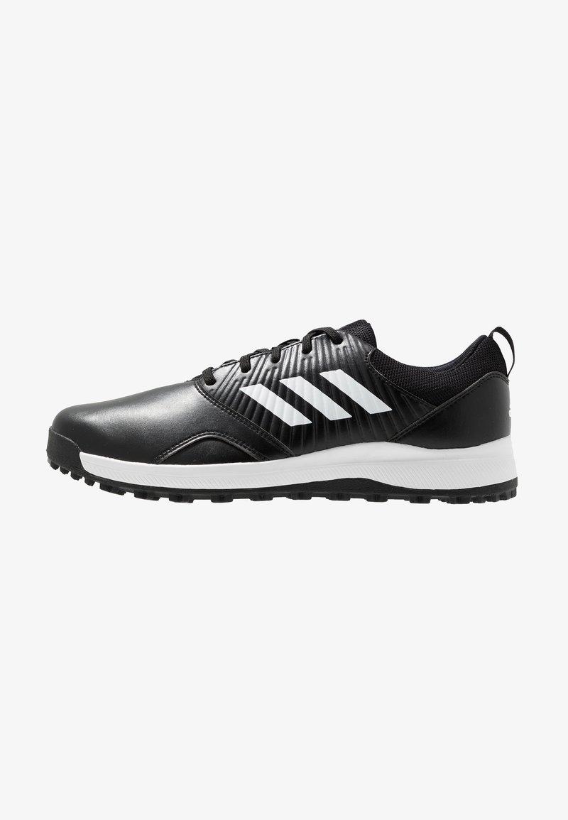 adidas Golf - TRAXION - Golfsko - core black/footwear white/silver metallic