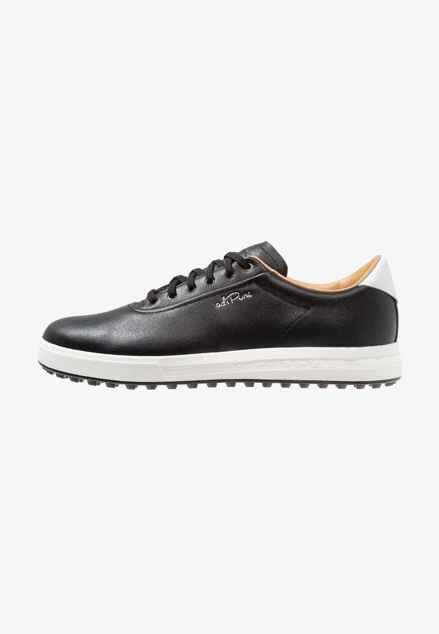 ADIPURE SP - Golfové boty - core black/footwear  white/silver metallic