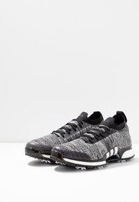 adidas Golf - TOUR360 XT PRIMEKNIT - Golfové boty - core black/footwear white/silver metallic - 2