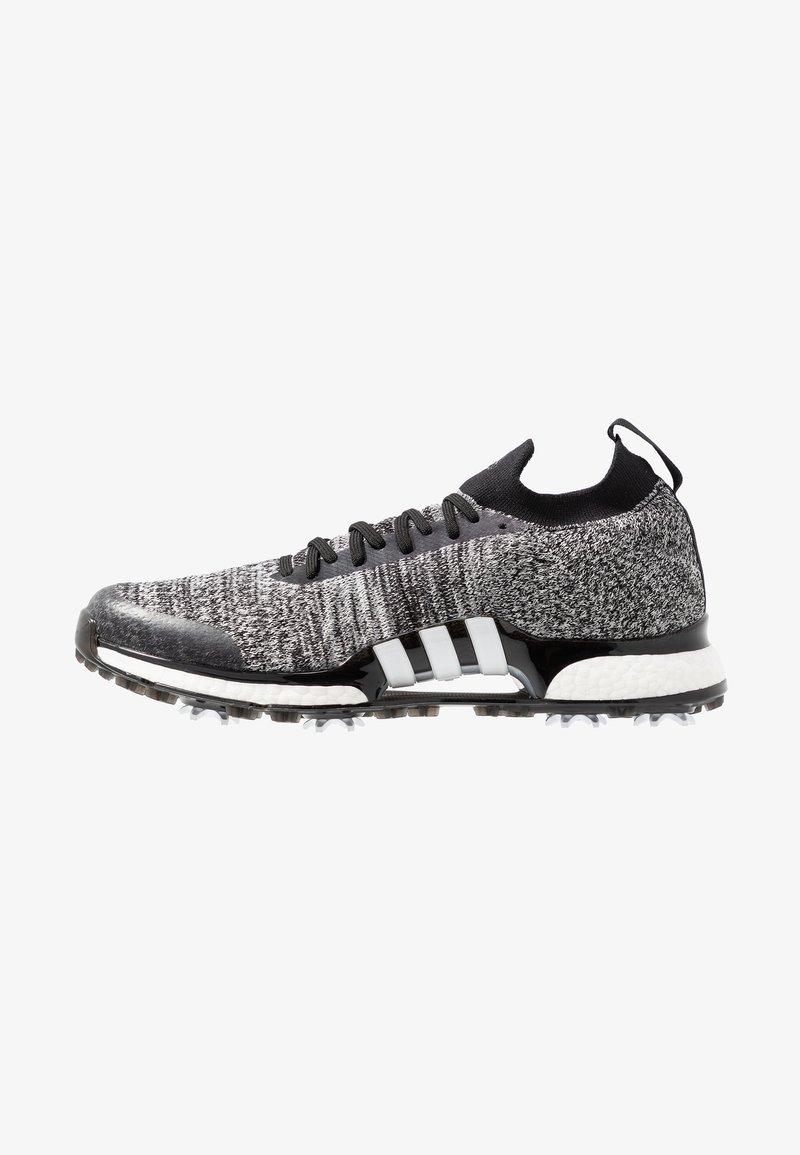 adidas Golf - TOUR360 XT PRIMEKNIT - Golfové boty - core black/footwear white/silver metallic