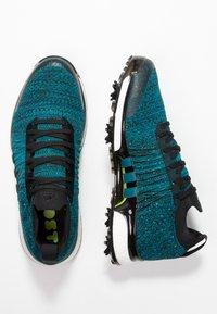 adidas Golf - TOUR360 XT PRIMEKNIT - Golf shoes - core black/activ teal/solar lime - 1