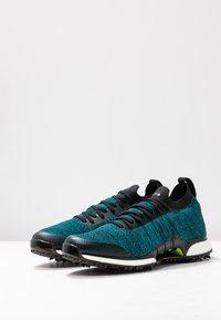 adidas Golf - TOUR360 XT PRIMEKNIT - Golf shoes - core black/activ teal/solar lime - 2