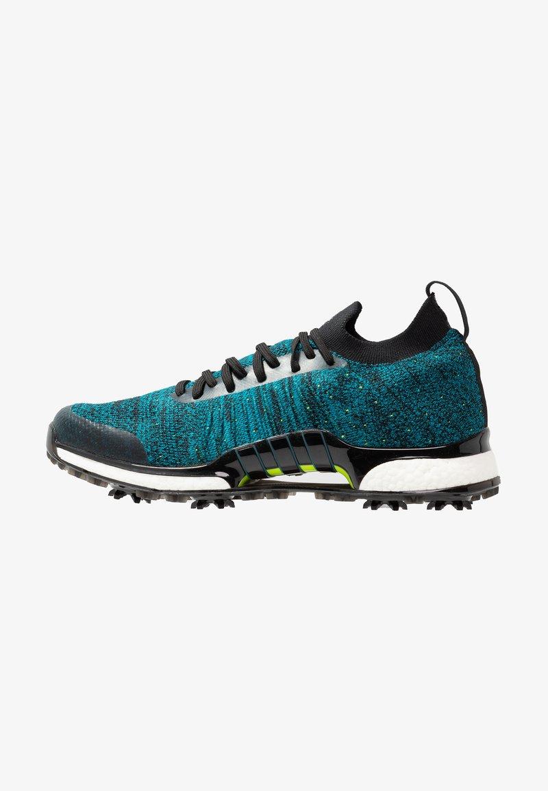 adidas Golf - TOUR360 XT PRIMEKNIT - Golf shoes - core black/activ teal/solar lime
