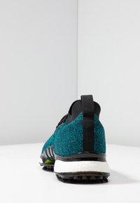 adidas Golf - TOUR360 XT PRIMEKNIT - Golf shoes - core black/activ teal/solar lime - 3