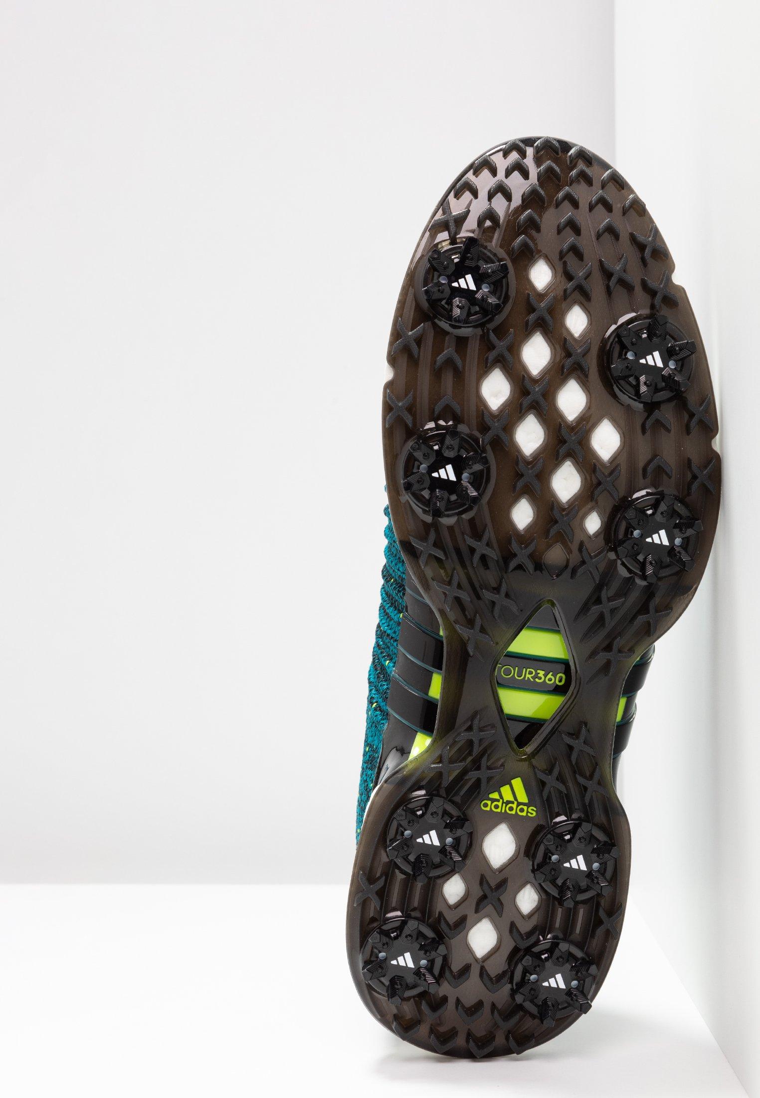 Adidas Golf Tour360 Xt Primeknit - Golfskor Core Black/activ Teal/solar Lime