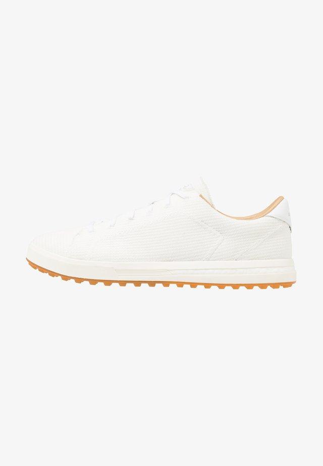 ADIPURE SP KNIT - Golfové boty - footwear white/cyber metallic