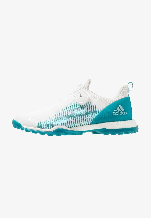 FORGEFIBER BOA - Golfsko - footwear white/activ teal/blue spirit